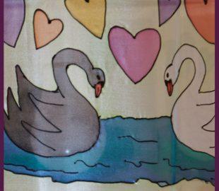 אהיל ברבורים בעבודת יד | אהילים מעוצבים לחדרי הילדים | יהודית ולצמן
